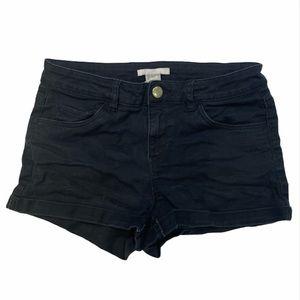 Black Denim Shorts H&M